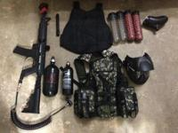 Excellent condition tippmann 98 custom, with additional