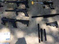 I have for sale 4 paintball weapons. 3 Tippmann 98