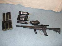 I am selling my Tippmann 98 custom w/ flatline barrel,