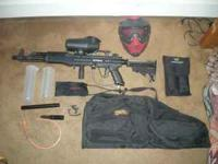 Tippmann A5 for sale which also comes with a red Vforce