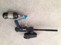 Tippmann a5 with extras Air tank by crossfire Drop