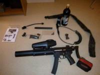 Selling a Tippmann A5 Paintball Gun that has a milsim
