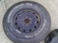 Brand new tire on steel rim. Rim will fit 2004-2008
