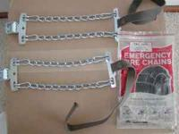 Campbell Emergency Passenger car tire chains. Brand new