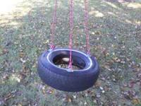 TIRE SWING FOR SALE. ROPE NOT INCLUDED. GET THE ROPE AT