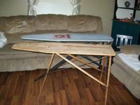 Nice old wood sturdy ironing boards. $15 each.