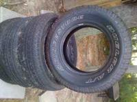 P265/70R/17/113S tires call  if interested  Location: