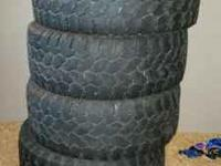 4 pro comp tires 37/13.50/R18LT used  Location: