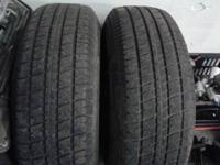 Used tires in Fair to Excellent Condition:   225/75/15