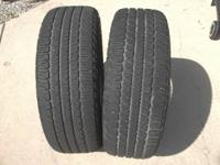 You get 2 tires, however one has some (ribbing?) which