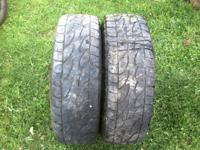 I have 2 245-75-R16 Load Range E 10-ply tires. Asking