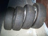 Used tires (4) Classic steel belted radials P185/65R14