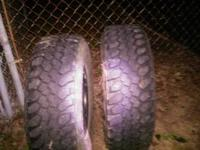 Two XMT Buckshot Mudders Good tread 50.00 each Two
