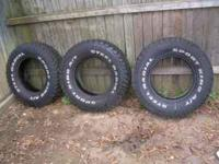 Tires (3) LT235/75/15R'S Sport King A/T, Good Amount of