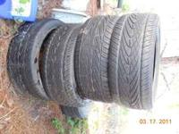 4 tires 30 each or 100 for all four, 2 are kumho and 2