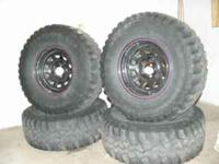 Tires and Rims for sale. Tires are 32inches by 11.5