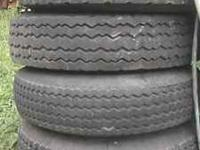 12 ply Size 14.5 Mobile home Tires good tread no dry