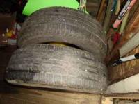 I HAVE FOR SALE A SET OF 14IN TIRES LIKE NEW THEY ARE