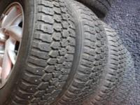 235/75/15 STUDDED TIRES ON FORD RIMS $200.00  obo