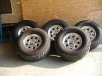 5- 305x70x16 Nitto Grappler A/T and Rims. Less than 600