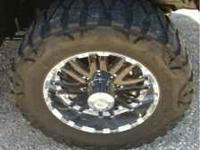 For sale tires and rims 8 lug 6.5 bolt pattern, chevy,