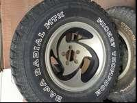 These are 5 lug Mickey Thompson Baja Radial MTX
