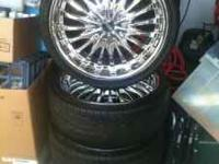 Have some rims and tires ready to mount on your car