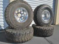 4 tire and wheels, 6 lug fits 4x4 chevy/ toyota, 15x 10