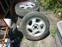 tires and wheels ( ALUM ) $85. 4 lug they are so -so