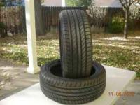 two continental tires good tread 205/50r17 radial 93w