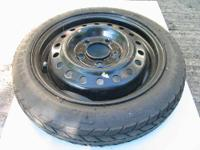 Unused Donut on rim. Used tire on rim. Tires came from