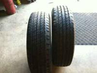 I have 2 Hancock dyna pro AS tires for sale.