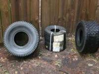 Four BRAND NEW, still have labels, lawn tractor tires
