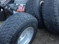 4 Tires with Rims for sale plus spare with rim.