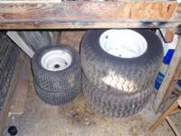 (2) 24X12.5 rear tiresand rims and 2 front tires and