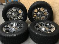 TIRE & WHEEL SET: 4 Nitto Tera Grappler LT 305/55