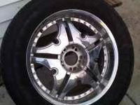 "4- 20"" Universal, Low Profile Rims with Tires Used only"
