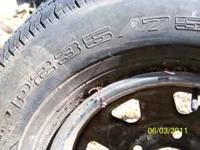 I have 2 sets of tires (1) 235/75R15 on chevy rims (3)