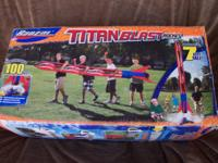 Banzai TITAN BLAST ROCKET inflates up to 7 feet tall