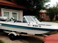 this is a 71 Titan ski boat with a Jonson 40hp