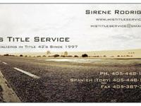 I specialize in vehicles registered in Oklahoma, out of