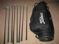 Titleist Golf Bag & free clubs 8 Ram Clubs