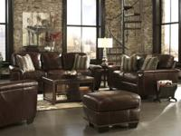 TIVONA SOFA AND LOVESEAT BY ASHLEY TOP GRAIN LEATHER