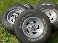 American Racing alum wheels for a TJ Wrangler. The