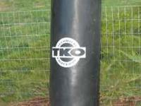 100 pound TKO punching bag. Asking $65 for it. Call