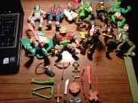 12 Different TMNT Action Figures + about 15 weapons.