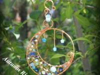 """To the Moon & Back"" Blue Sun Catcher ~ $40 ~ One Of A"