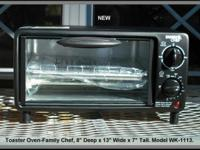 Toaster Oven by Family Chef-NEW. $20. Compact Outside