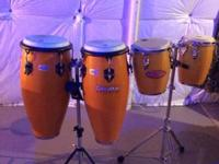 Toco Congos with stands an drum key.  Asking