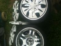 Wheels tires and spinners! Only 1 tire needs replaced